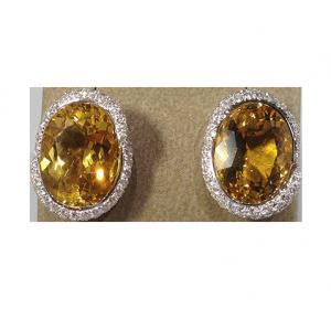Beryll-Diamond Earstuds