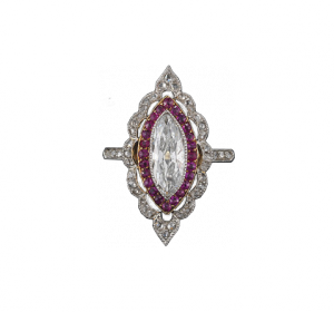 Ruby-Diamond Ring around 1910