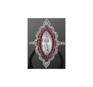 Ruby-Diamond Ring around 1910