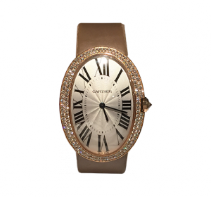 "Cartier ""Baignoire large"" Rosegold with Diamonds"