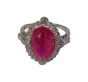 Ruby Diamond Ring around 1940