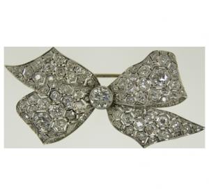Diamond-Brooch around 1910