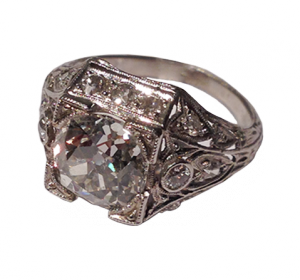 Art Déco Ring with Diamonds