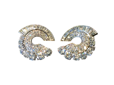 Antique Diamond Earclips