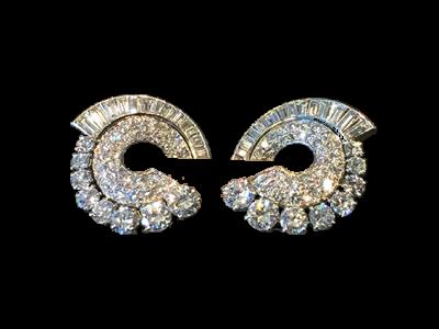 Antique Diamond Earclips