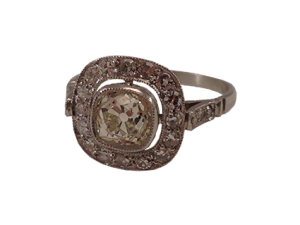 Edwardian Platinum Diamond Ring