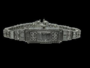 Diamond Art Deco Wristwatch