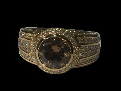 Diamond Ring, Center Stone Brown Diamond
