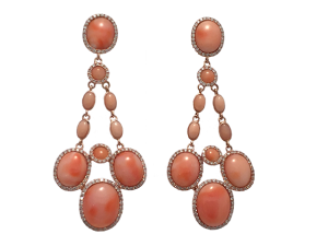 Angel Skin Coral Earrings