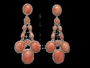 Angel Skin Coral Earrings