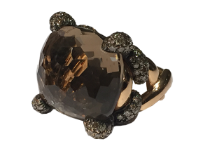 Pomellato Ring Smoky Quartz