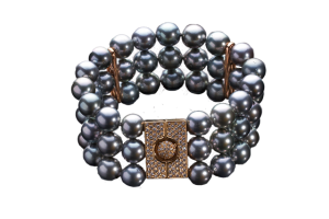 Tahitian Pearls Bracelet with Diamonds