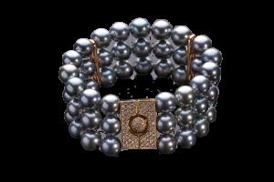 Tahitian Pearls Bracelet with Diamonds