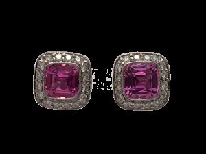 "Tiffany Studs ""Legacy"" Pink Saphire and Diamonds"